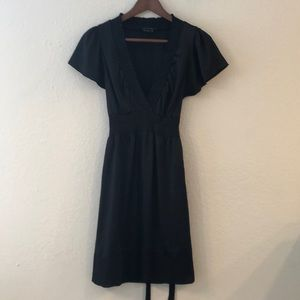 BCBG Black silk dress